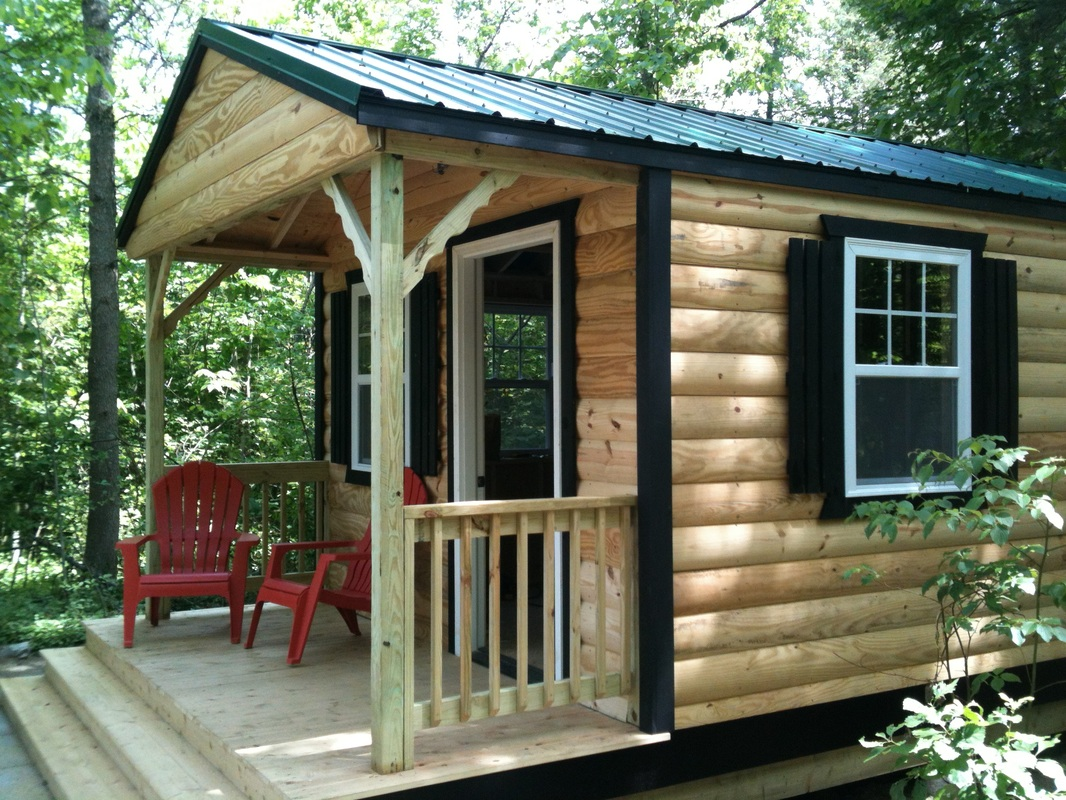 Cabin and bunkie photo gallery prefab cabins bunkies for Prebuilt shed homes